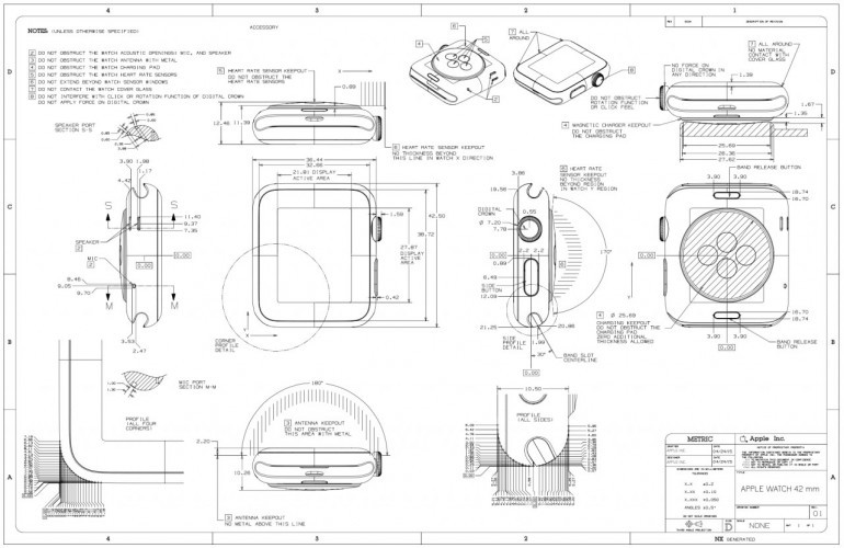 Apple Watch Schematics