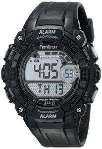 Armitron 408209BLK Chronograph Digital Sport