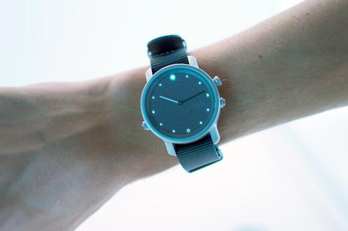 Smart watch on a solar battery